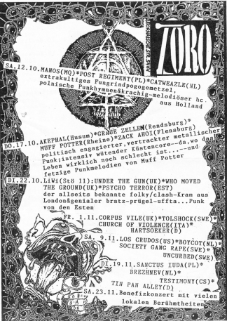 1996-10-12 Zoro, Leipzig newsflyer