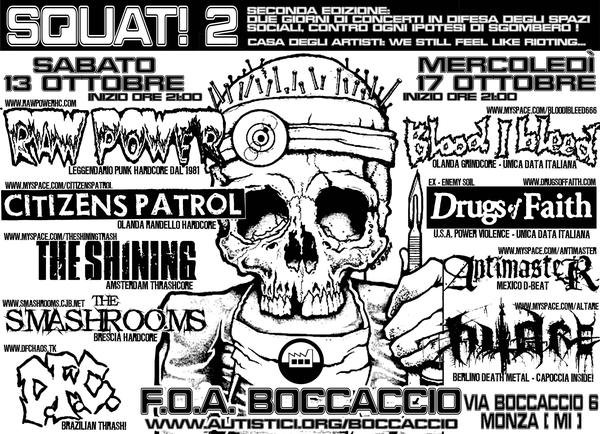 2007-10-17 Drugs of Faith Monza flyer